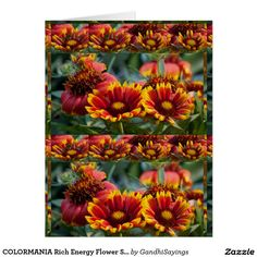 COLORMANIA Rich Energy Flower Show: Blessings Card