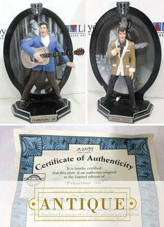 Elvis Memorabilia, Under The Hammer, Bradford Exchange, Antique Auctions, Authenticity, Certificate, Bookends, Campaign, Range
