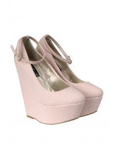 Pink Snake Print Wedges £20.00 from Select Fashion UK