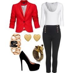 day in the office, created by hannahmarie16 on Polyvore