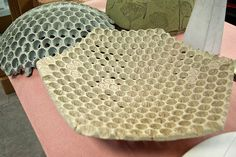 Garden vessels made molded from bubble wrap | made with ShapeCrete : the Shape-able Concrete Mix for diy, pros, kids 12+, craft, art, make / maker projects