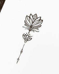 """1,541 Likes, 10 Comments - ✷ ❉ ❁ Helena Lloret ❁ ❉ ✷ (@helenalloretart) on Instagram: """"Simple but elegant ❤ • • • #lotus #lotusflower #tattoo #tattoos #ink #inked #tattoodesign #design…"""""""