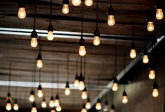 """Rustic Urban Edison Lights Fine Art Photography Print  