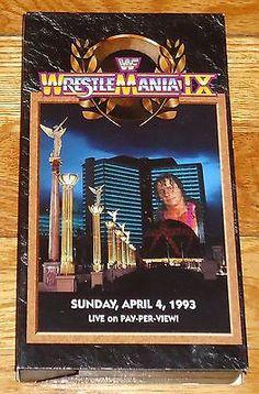 1997+WWF+WWE+Video+Wrestlemania+9+Hulk+Hogan+Bret+Hart+Yokozuna+Shawn+Michaels