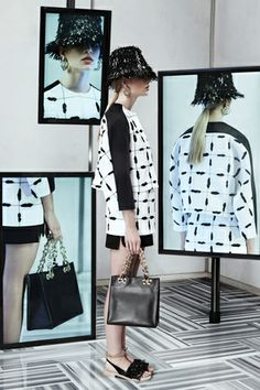 Balenciaga — Matching your hat to your shoes and your shirt to your skirt and your earrings to your bag? You got it! Resort '14