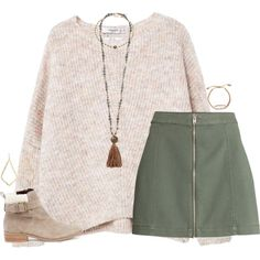 A fashion look from December 2017 featuring MANGO sweaters, Sole Society ankle booties and Chan Luu necklaces. Browse and shop related looks. Fall Winter Outfits, Autumn Winter Fashion, Summer Outfits, Casual Outfits, Mode Outfits, Fashion Outfits, Womens Fashion, Skirt Outfits, Hippie Boho