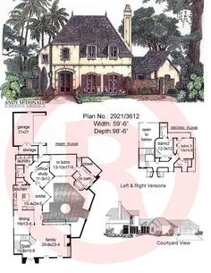 french cottage house plan