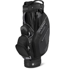 Sun Mountain Sync Cart Bag The Sync bag was designed for use on golf push carts. We started with a top and bottom designed to nest in the upper and lower bag wraps of Sun Mountain carts. Then we molded the bottom so it fits over the lower bag rest of the Speed Cart and Micro-Cart Series carts, minimizing side-to-side movement. Product Features: 15-way top with individual full-length dividers Integrated putter compartment All pockets are forward facing and accessible when the bag is on a…
