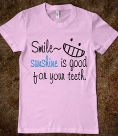 Smile quotes American Apparel Juniors Fitted Tee