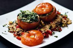 Gefuellte Tomaten & Bratreis