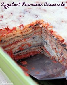 Lightned up- Eggplant Parmesan Casserole        Can't Waitt to make this. Yum(Baking Eggplant Slices)