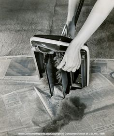 Carpet sweepers, 1959  Most are relatively easy to empty: Spread newspapers on the floor, tip up the sweeper with one hand, and reach down with the other hand to pull on a metal tab. Empty the sweeper each time before you store it, we add, or whenever it gets too full.