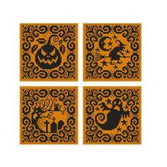 Cross Stitch Charts, Cross Stitch Designs, Cross Stitch Patterns, Cross Stitching, Cross Stitch Embroidery, Ravelry, Halloween Ornaments, Halloween Decorations, Halloween Ideas