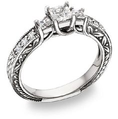 Vintage Style Engagement wedding Ring