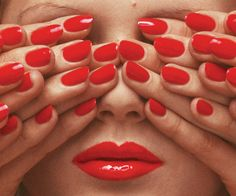 Really love some of surrealist inspired work he does.By fashion photographer, Guy Bourdin - a shot for the May 1970 issue of French Vogue. Photograph: © The Guy Bourdin Estate 2014 / Courtesy of Louise Alexander Gallery Red Nail Varnish, Red Nails, Hair And Nails, Nail Polish, Nail Nail, Guy Bourdin, Man Ray, Paris Photos, Shades Of Red
