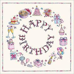Birthday Circle £1.50  www.susanscards.co.uk