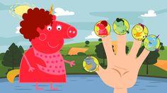 #Unicorn #Peppa Pig Family / #Finger Family Song  / Nursery Rhyme Lyrics Pig Family, Finger Family, Nursery Rhymes Lyrics, Family Songs, Peppa Pig, Pikachu, Unicorn, Youtube, Kids