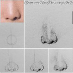 Realistic Pencil Drawings, Pencil Art Drawings, Art Sketches, Girl Face Drawing, Nose Drawing, Human Anatomy Drawing, Kpop Drawings, Sketches Tutorial, Korean Art