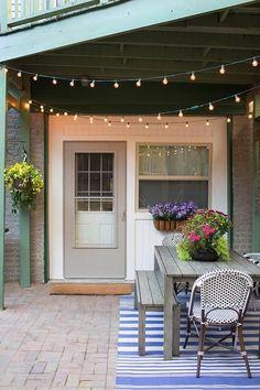 Guirnaldas de luces para decorar exteriores