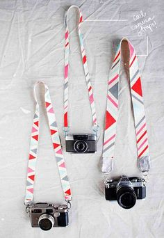 Painted Camera Strap | Super Cool DIY Christmas Gifts For Teens