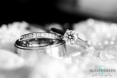 Platinum Wedding Ring and Diamond  Alexi Shields Photography