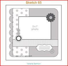 I like this layout for a card and a scrapbook page