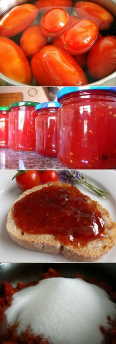 Mermelada de tomate casera la mas Dulce y facil del mundo! #mermelada #dulces #tomate #tomato #tomatoes #facil #pan #panfrances #panettone #panes #pantone #pan #recetas #recipe #casero #torta #tartas #pastel #nestlecocina #bizcocho #bizcochuelo #tasty #cocina #chocolate Si te gusta dinos HOLA y dale a Me Gusta MIREN...