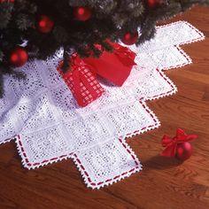 Traditional Elegance Tree Skirt Thread Crochet ePattern