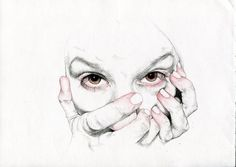 Analisa Aza (UK) - From Facial Distortion series, 2012    Drawings