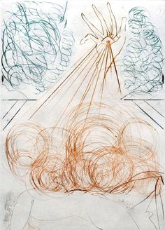 Salvador Dali - Much Ado about Shakespeare , signert radering