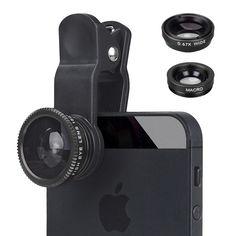Universal Self artifact phone external effects photographic lens fisheye wide angle lens macro lens beauty phone