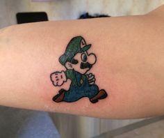 Luigi super Mario tattoo