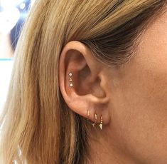 """The """"Snug"""" Will Be Biggest Piercing Trend. Unique Piercings For Females Snug Piercing, Helix Piercings, Piercing Tattoo, Body Piercing, Daith, Triple Conch Piercing, Orbital Piercing, Double Cartilage, Tongue Piercings"""