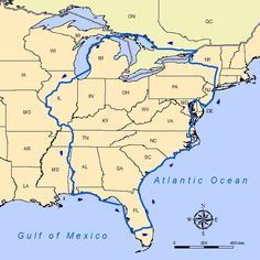 The Great Loop: The Atlantic and Gulf Intracoastal Waterways, the Great Lakes, the Canadian Canals, and the Inland Rivers of America's heartland.