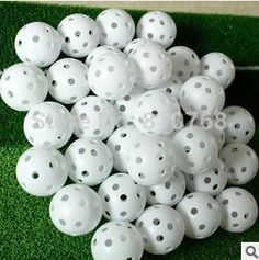Free Shipping Air Flow Golf ball hole ball Practice Plastic Perforated indoor exercise golf training balls#2086