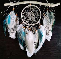 Dreamcatcher dream catcher Feather decor Indian Style talisman gift Wall hanging boho Native American dreamcatcher by Roadofthedream on Etsy Dream Catcher Boho, Dream Catchers, Driftwood Mobile, Dream Catcher Native American, Craft Jewelry, Native American Fashion, Bead Crafts, Compliments, Macrame