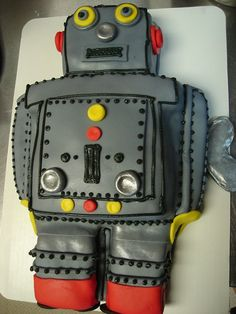 robot cake.  Need one for my son's third birthday!