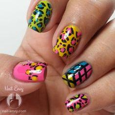 Totally 80s Nail Design by Nail Envy