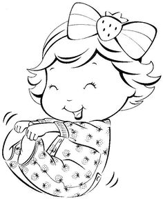 Baby Coloring Pages, Coloring Pages For Kids, Adult Coloring, Coloring Sheets, Coloring Books, Hand Embroidery Patterns, Embroidery Art, Cool Art Drawings, Easy Drawings