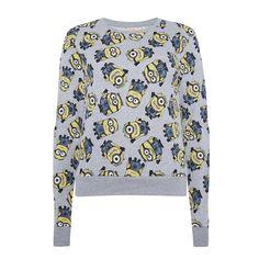 Primark - Grey minion pyjama sweater