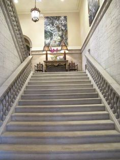 Staircase to rooms at Glenmere Mansion