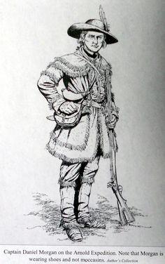 Captain Daniel Morgan during the American Revolution. American Revolutionary War, American War, Early American, Native American Art, American History, American Women, American Indians, Continental Army, Fur Trade