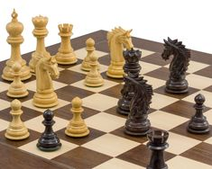 The Dubliner Montgoy Luxury Grand Chess Set Chess Sets, Chess Pieces, Hand Carved, Crochet Patterns, Carving, Traditional, Luxury, Board, Crafts