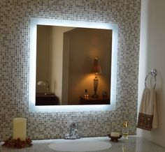 Art Exhibition Mirrors and Marble MAM Commercial Grade x Side Lighted Wall Mounted Makeup MirrorLighted Vanity