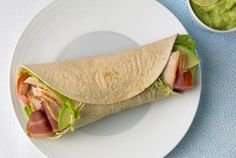 Turkey Club Wrap | #turkey #wrap #club #JennieO | http://www.jennieo.com/recipes/107-Turkey-Club-Wrap