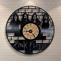 Pink Floyd art vinyl wall record clock by Vinylastico on Etsy