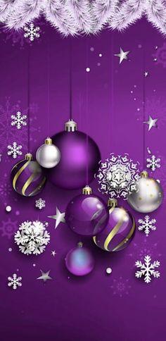 Merry Christmas Gif, Merry Christmas Wallpaper, Merry Christmas Pictures, Christmas Cover, Holiday Wallpaper, Purple Christmas, Christmas Scenes, Christmas Art, Christmas Greetings