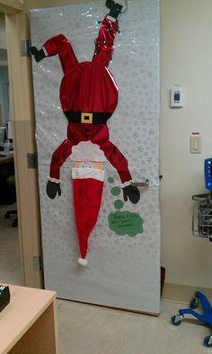 Decoració porta amb un Pare Noel