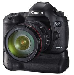 I love my Canon 5D Mark III... has a full-frame sensor, 61 AF Points, Great quality images at high ISO and more.