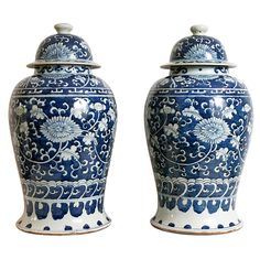 Pair of Chinese Temple Jars, early 20th century